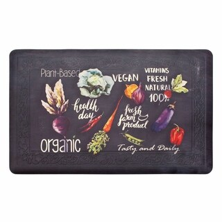 Chef Gear Tablet Border Healthy Living Gelness Mat - 1'8 x 3'3