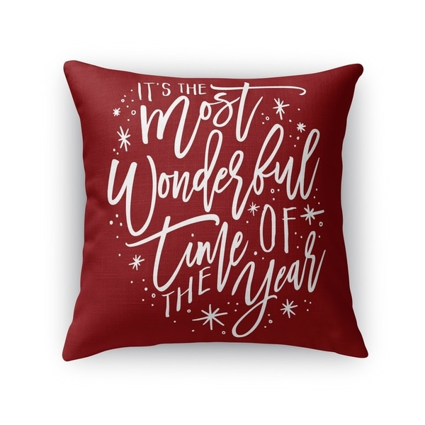 The Most Wonderful Time Accent Pillow By Kavka Designs