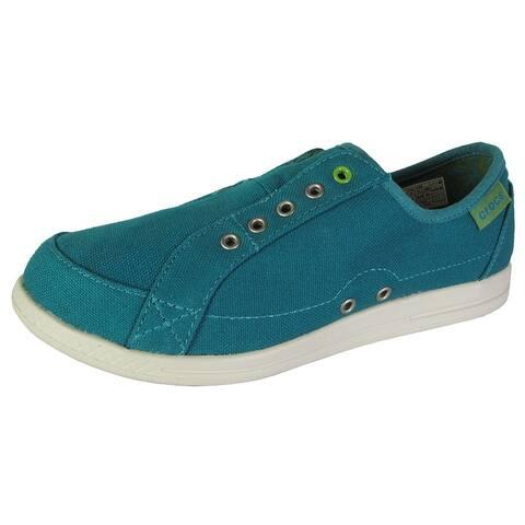 Crocs Womens Lopro Laceless Sneaker Slip On Shoes, Juniper/Stucco