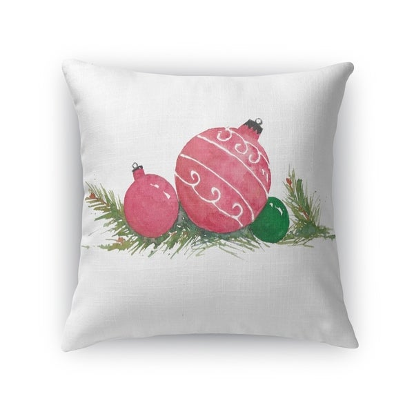 Nesting Christmas balls Accent Pillow By Kavka Designs