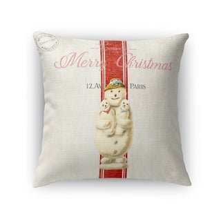 Snow Man Accent Pillow By Kavka Designs