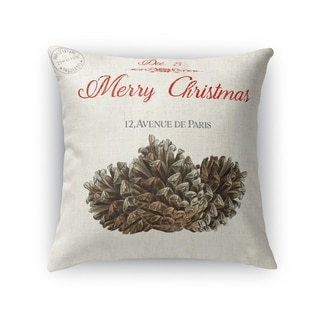 Pine Cone Christmas Accent Pillow By Kavka Designs