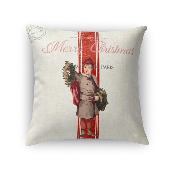 Christmas Boy Accent Pillow By Terri Ellis