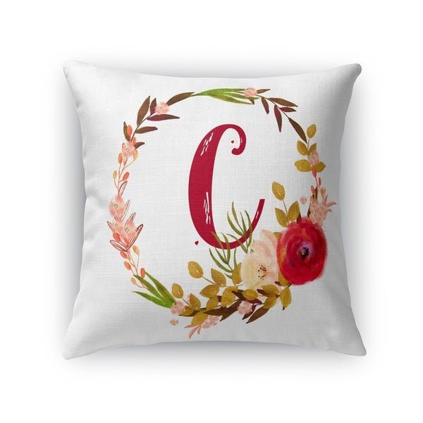 C Accent Pillow By Kavka Designs