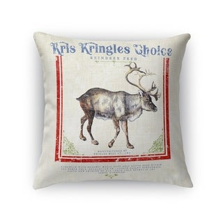 Reindeer Feed Accent Pillow By Kavka Designs