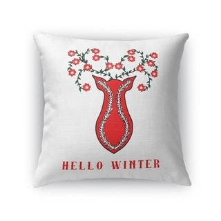 Hello Winter Accent Pillow By Kavka Designs