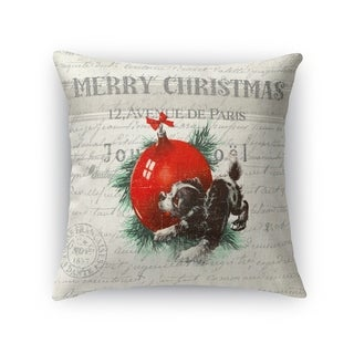 Christmas Puppy Accent Pillow By Kavka Designs