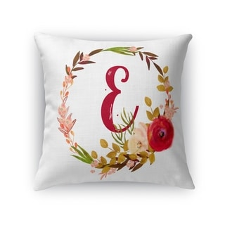 E Accent Pillow By Kavka Designs