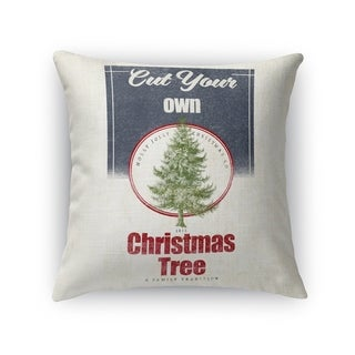 Cut Your Own Tree Accent Pillow By Terri Ellis