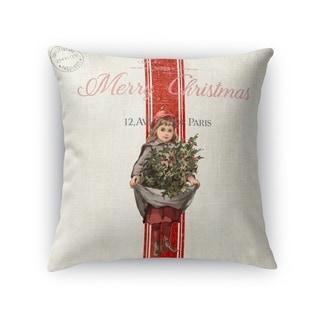 Christmas Girl Accent Pillow By Terri Ellis