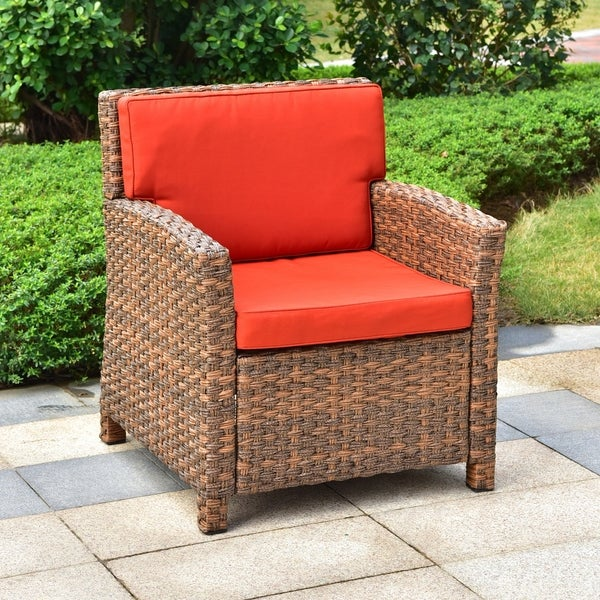 Shop International Caravan Majorca Resin Wicker Patio Chair With
