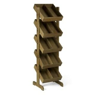 5 Tier Wooden Floor Bin