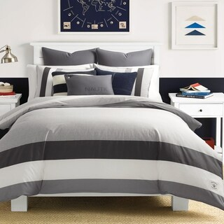 Nautica Heirtage Signal Stripe Duvet Cover Set