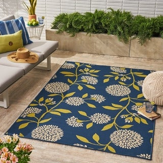 Viola Indoor/ Outdoor Floral 5 x 8 / 8 x 11 Area Rug by Christopher Knight Home