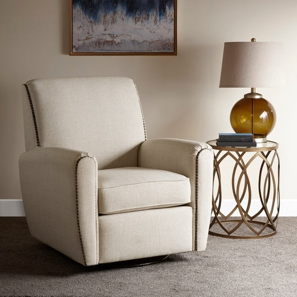Shop Madison Park Pancho Cream Swivel Glider Chair Free