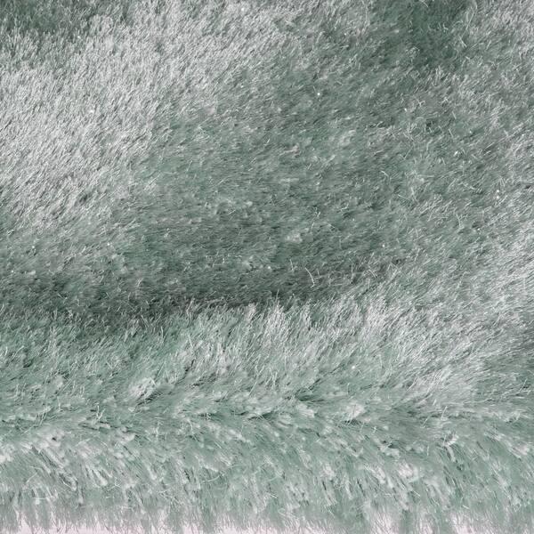 Sparkle Silver Metallic Shag Area Rug
