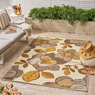 Farren Indoor/ Outdoor Floral 5 x 8 / 8 x 11 Area Rug by Christopher Knight Home