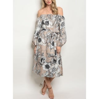 JED Women's Off-Shoulder Midi Floral Dress