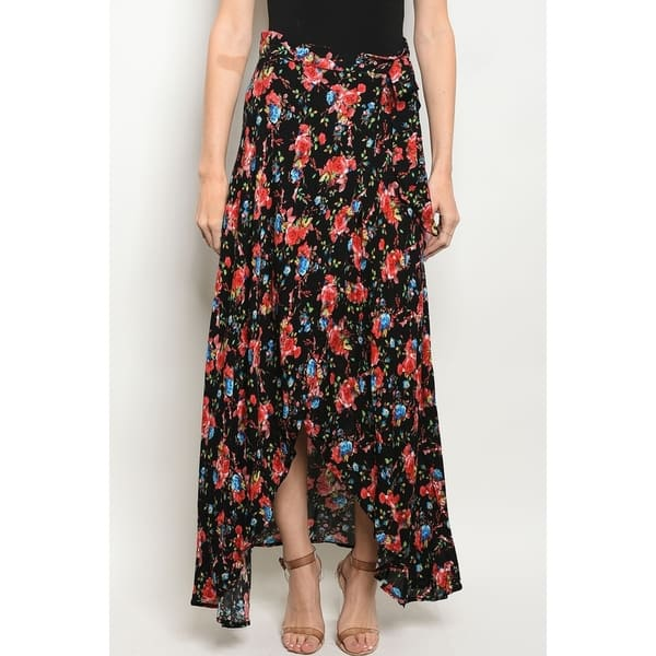 Shop Jed Women S Wrap Around Floral Maxi Skirt On Sale Overstock 21613127