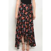 JED Women's Wrap-Around Floral Maxi Skirt