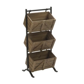 3 Tier Wooden Crate Stand