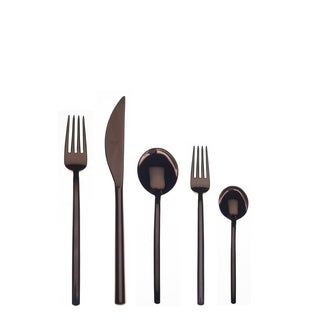 Mepra 5-piece Stainless Steel w/PVD Titanium Coating Due Bronzo Cutlery Set