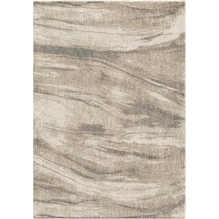Modern Sandstorm Ivory Plush Shag by Orian Rugs - 9' x 13'