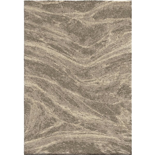 Greige Mixed Marble Plush Shag by Orian Rugs - 9' x 13'