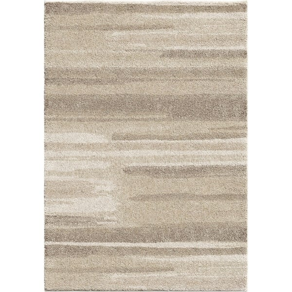 Orian Rugs Natural Watercolor Beige Plush Shag Rug - 9' x 13'