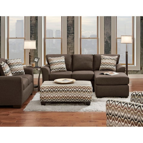Soho 4-Piece Set with Sofa, Loveseat, Accent Chair and Cocktail Ottoman