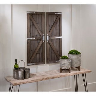 Barn Door Wall Art - 2 Piece Set