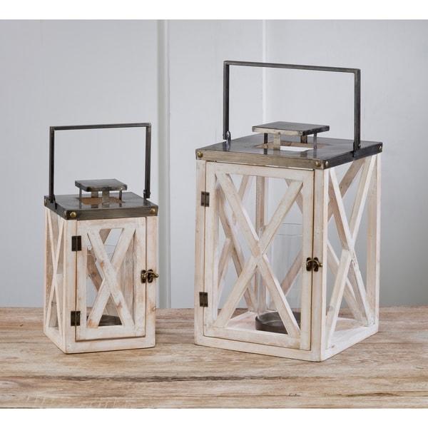 Set of 2 Lighthouse Lanterns