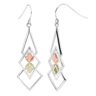 Black Hills Gold on Silver Geometric Dangle Earrings