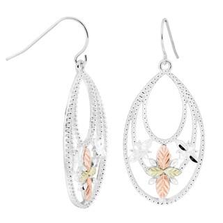 Black Hills Gold on Silver Oval Dangle Earrings
