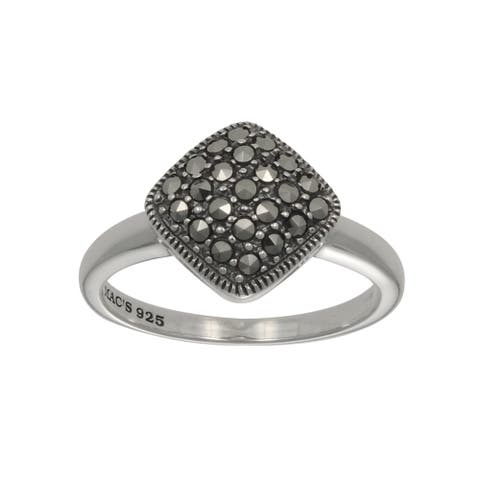 MARC Sterling Silver Marcasite Cushion Shape Ring