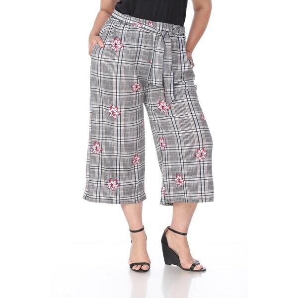 White Mark Plus Size Women's Gaucho Pants. Opens flyout.