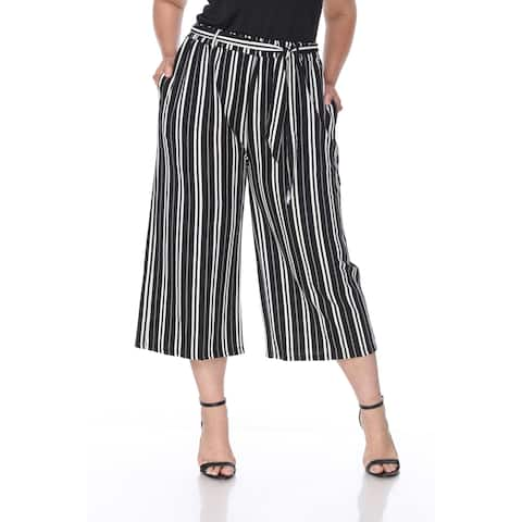 White Mark Plus Size Women's Gaucho Pants