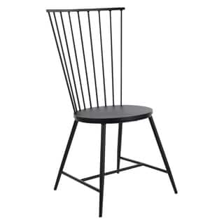 OSP Home Furnishings Bryce Dining Chair in Black Finish