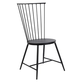 OSP Designs Bryce Dining Chair in Black Finish