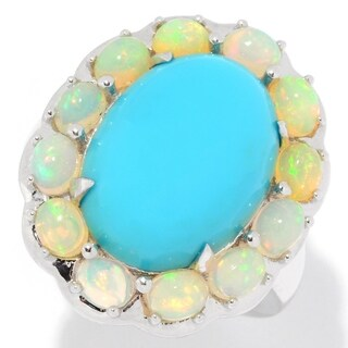 Sterling Silver, Sleeping Beauty Turquoise & Ethiopian Opal Ring