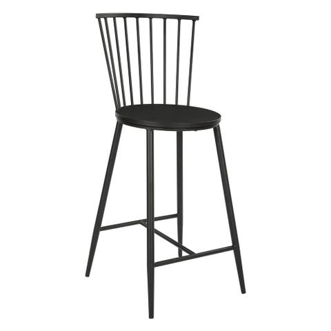Bryce 26 inch Counter Stool with Black Metal Frame