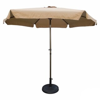 International Caravan St. Kitts 9 ft. Aluminum Patio Umbrella with Crank in Berry Berry (As Is Item)