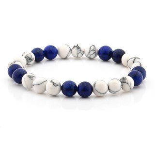 Lapis Lazuli Beaded Stretch Bracelet (8mm Wide) (2 options available)