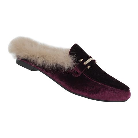 Yoki-Willas-23 Women's Flat Slippers with Faux-Fur Lining