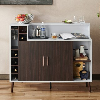 Furniture of America Norlina Contemporary Wine Rack Buffet