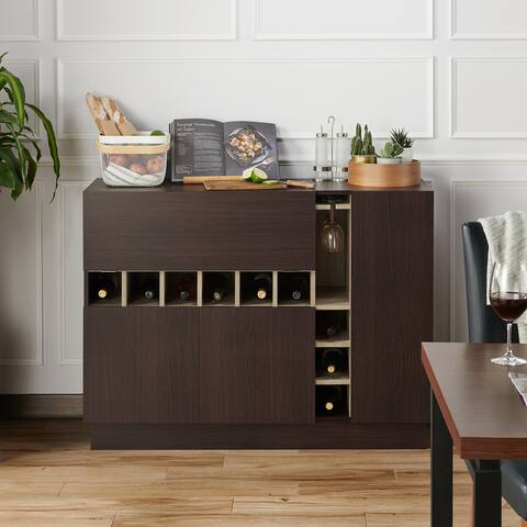 Furniture of America Dury Modern Espresso 47-inch Buffet Server