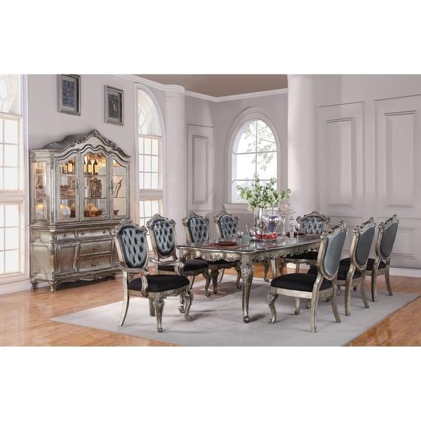 Shop Acme Chantelle Dining Table Antique Platinum On