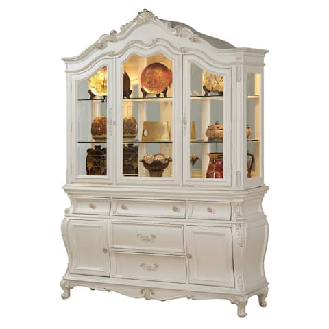 ACME Chantelle Hutch & Buffet, Pearl White (1Set/2Ctn)