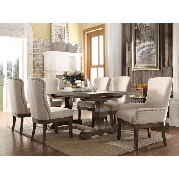 ACME Landon Dining Table, Salvage Brown - salvage brown. Opens flyout.