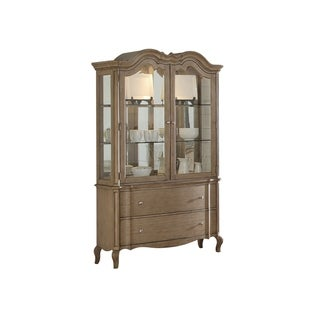 ACME Chelmsford Hutch & Buffet, Antique Taupe (1Set/2Ctn)